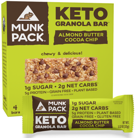 Munk Pack Almond Butter Cocoa Chip Granola Bar